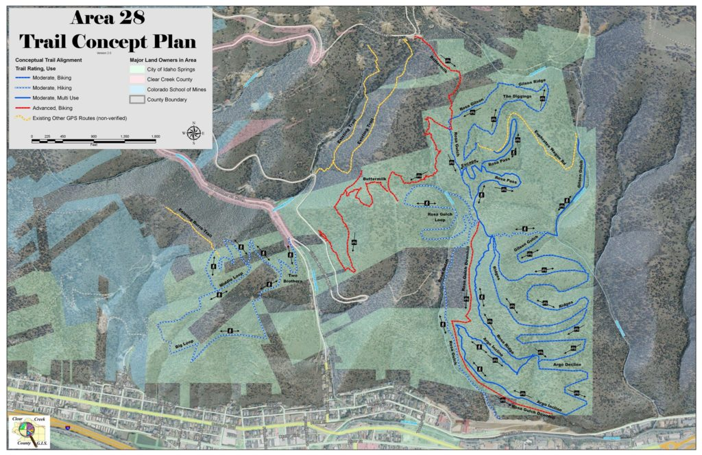 AREA 28 Idaho Springs trail concept plan